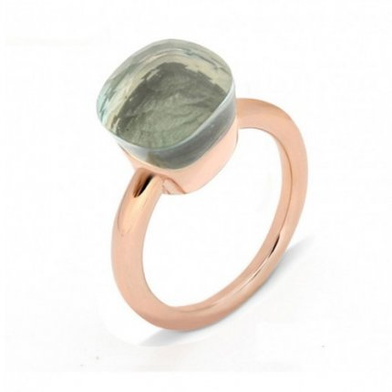 pomellato nudo ring in rose gold with prasiolite low price