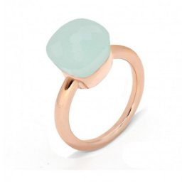 cheap pomellato nudo ring in rose gold with green jade