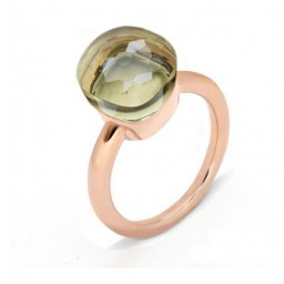 low price pomellato nudo ring in rose gold with peridot