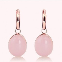 pomellato rouge passion earrings pink gold and pink quartz replica