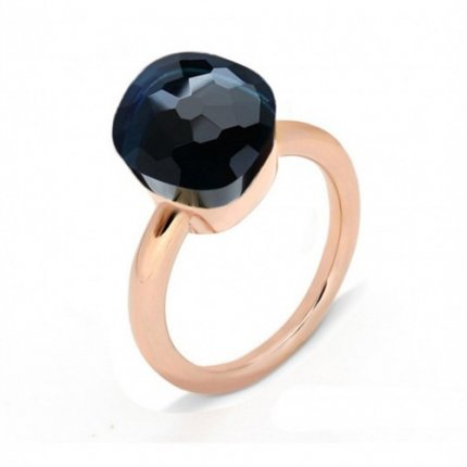 cheap pomellato nudo ring in pink gold with blue quartz
