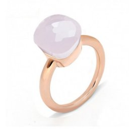 cheap pomellato nudo ring in rose gold with pink quartz