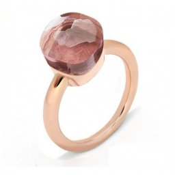 low price pomellato nudo ring in rose gold with rose topaz