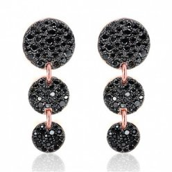 imitation pomellato sabbia earrings rose gold and black diamonds