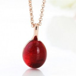 pomellato pink gold necklace replica with chain rouge passion garnet