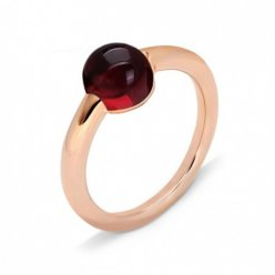 cheap pomellato m'ama non m'ama ring in rose gold with garnet