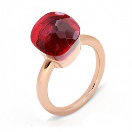 cheap pomellato nudo ring in pink gold with ruby