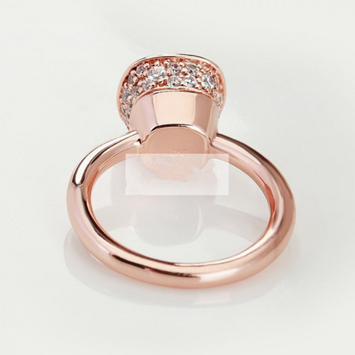 imitation pomellato nudo ring in rose gold with paved diamonds - Click Image to Close