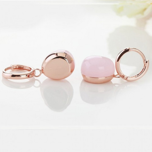 pomellato rouge passion earrings pink gold and pink quartz replica - Click Image to Close